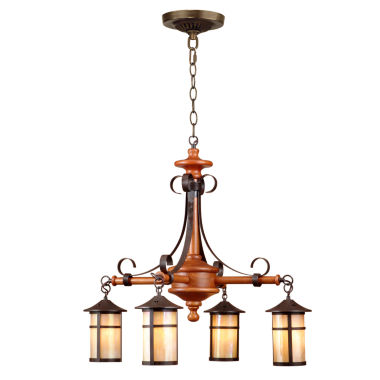 jcpenney.com | Dale Tiffany™ Round Lantern 4-Light Hanging Fixture
