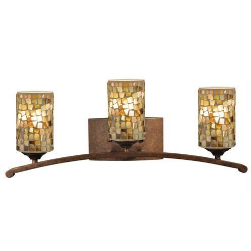 Dale Tiffany™ Knighton 3-Light Mosaic Vanity Lights