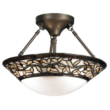 jcpenney.com | Dale Tiffany™ Cyprus Oaks Semi Flush Mount