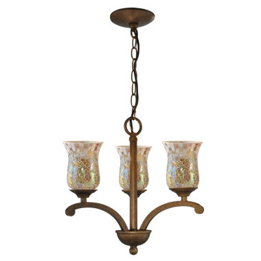 jcpenney.com | Dale Tiffany™ Apsley 3-Light Mosaic Hanging Fixture
