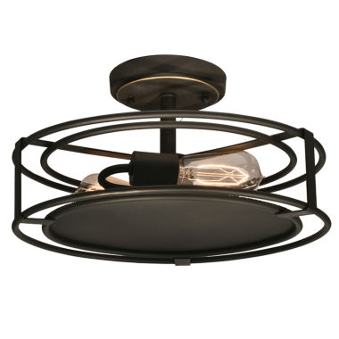 jcpenney.com | Dale Tiffany™ LED Peter Semi Flush Mount