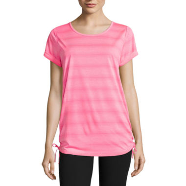 jcpenney.com | Made For Life Short Sleeve Side Tie Knit Tee