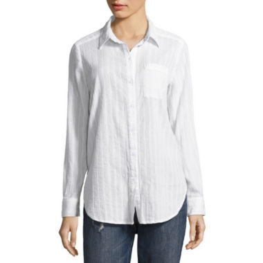 jcpenney.com | Liz Claiborne Long Sleeve Button-Front Shirt