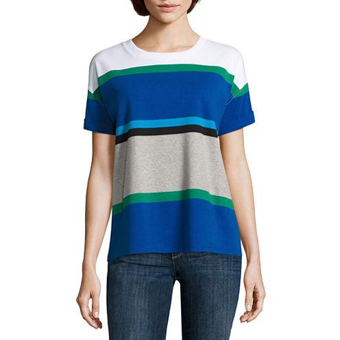 Liz Claiborne Short Sleeve Crew Neck T-Shirt