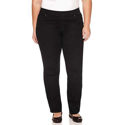 Gloria Vanderbilt Straight Fit Straight Leg Jeans-Plus