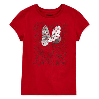 jcpenney.com | Disney Girls Minnie Mouse Bow Graphic T-Shirt - Big Kid