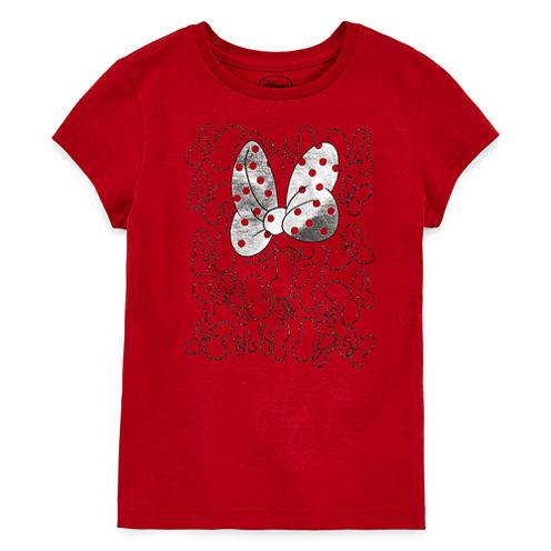 Disney Girls Minnie Mouse Bow Graphic T-Shirt - Big Kid