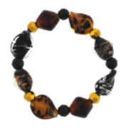 Animal Print Glass Bead Stretch Bracelet