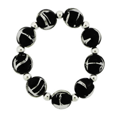 jcpenney.com | Dazzling Designs™ Zebra Glass Bead Stretch Bracelet