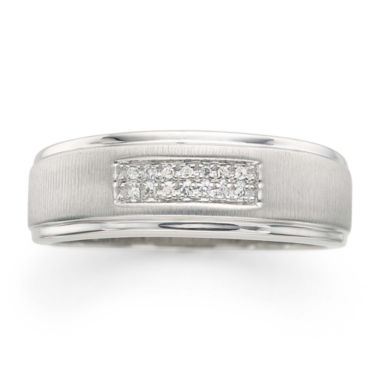 jcpenney.com |  Mens Diamond Accent 2-Row Wedding Band