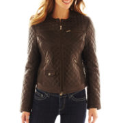 Excelled Leather Quilted Scuba Jacket