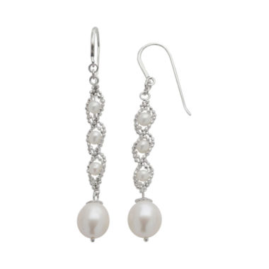 jcpenney.com | Sterling Silver Fresh Water Pearl Lace Earrings