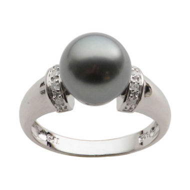 jcpenney.com | Black Tahitian Pearl & Diamond-Accent Ring