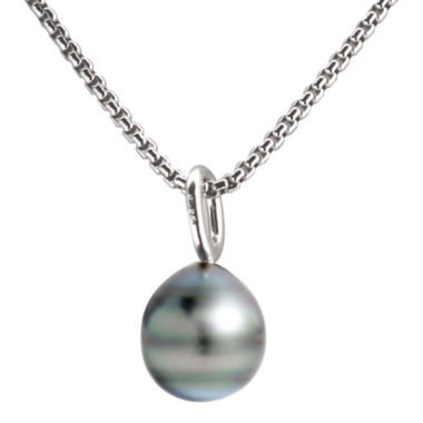 jcpenney.com | Black Tahitian Pearl Drop Pendant Necklace