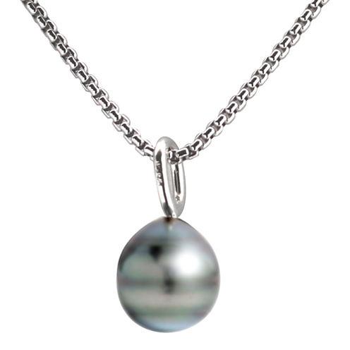 Black Tahitian Pearl Drop Pendant Necklace