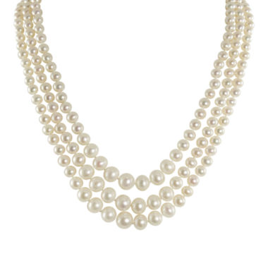 jcpenney.com | Cultured Freshwater Pearl Graduated 3-Strand Necklace