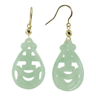 jcpenney.com | 14K Yellow Gold Jade Drop Earrings