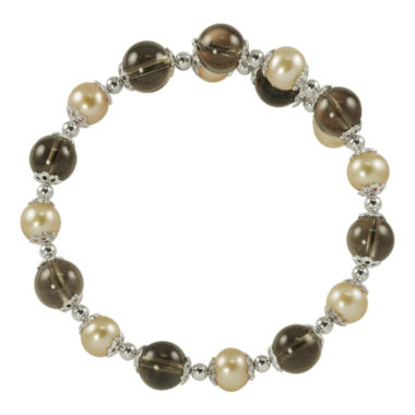 jcpenney.com | Champagne Cultured Freshwater Pearl & Smoky Quartz Bracelet
