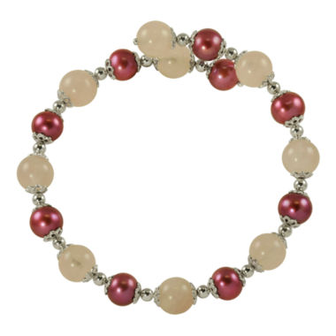 jcpenney.com | Plum Cultured Freshwater Pearl & Rose Quartz Bracelet