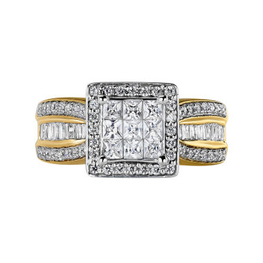 jcpenney.com | 10K Yellow Gold 1 CT. T.W. Diamond Princess-Style Engagement Ring