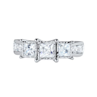 jcpenney.com | TruMiracle® 2 CT. T.W. Princess Diamond 3-Stone Engagement Ring