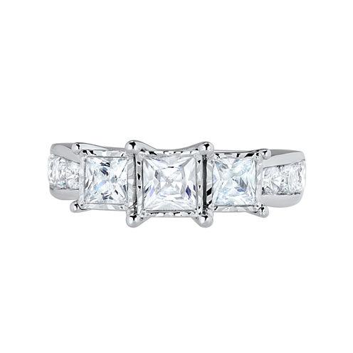 TruMiracle® 2 CT. T.W. Princess Diamond 3-Stone Engagement Ring