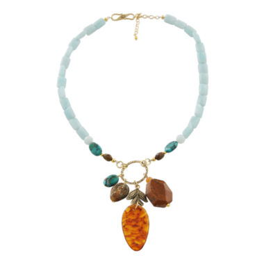 jcpenney.com | Art Smith by BARSE Multi Gemstone Cluster Drop Necklace
