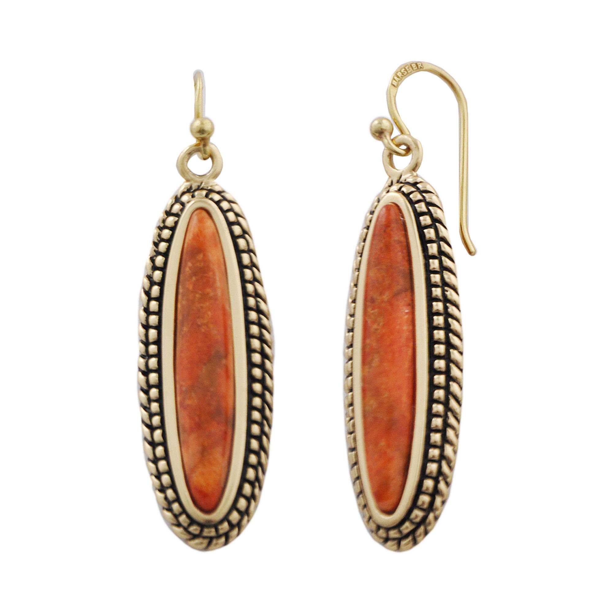 Art Smith by BARSE Orange Sponge Coral Drop Earrings