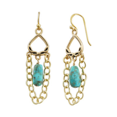 jcpenney.com | Art Smith by BARSE Turquoise & Chain Drop Earrings