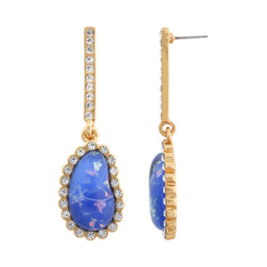 jcpenney.com | 10021 | Kara Ross Crystal & Blue Resin Earrings