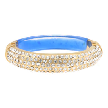 jcpenney.com | 10021 | Kara Ross Pavé Crystal & Blue Resin Cuffed Bracelet