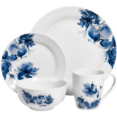 jcpenney.com | JCPenney Home™ Dana Floral 16-pc. Porcelain Dinnerware Set