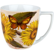 Nature Set of 4 Sunflower Mugs
