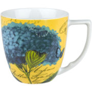 Impressions Set of 4 Hydrangea Mugs