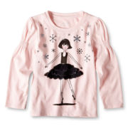 Joe Fresh™ Puff-Sleeve Graphic Top - Girls 1t-5t