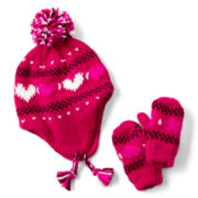 Joe Fresh™ Heart Hat and Mittens Set - Girls