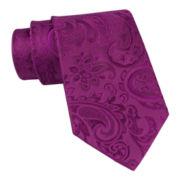 Stafford® Tonal Paisley Slim Necktie
