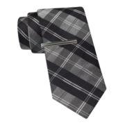JF J. Ferrar® Glitter Plaid Tie