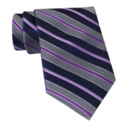Stafford® Mission Beach Striped Silk Tie