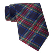 Stafford® Holiday Tartan Plaid Silk Tie