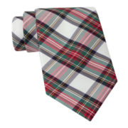 Stafford® Holiday Tartan Plaid Silk Tie