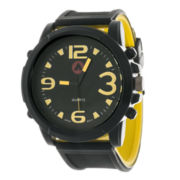 AIRWALK® Mens Black Silicone Watch