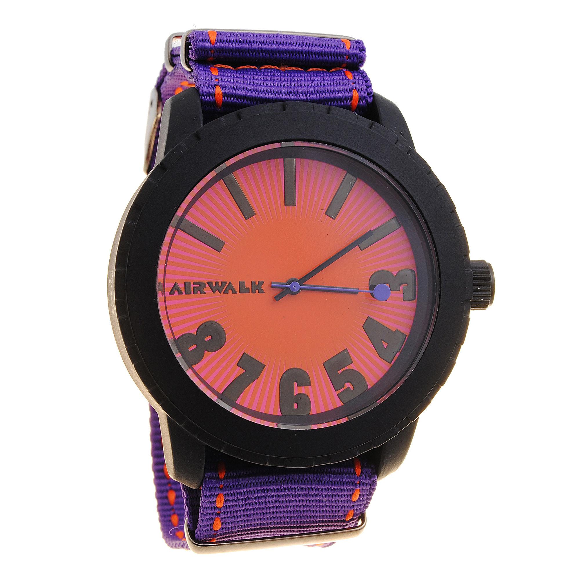 AIRWALK Mens Purple Canvas Watch