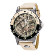 Mossy Oak® Mens Beige and Camo Watch