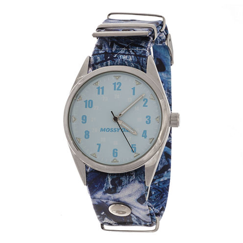 Mossy Oak® Womens Blue Leather Watch