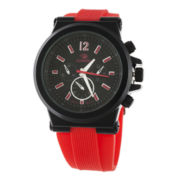 Zunammy® Mens Red and Black Silicone Watch