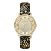 Liz Claiborne® Womens Python-Pattern Leather Watch