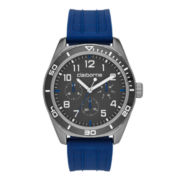 Claiborne® Mens Blue Silicone Strap Watch