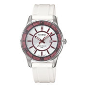 Casio® Womens White Resin Strap Watch