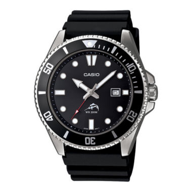 jcpenney.com | Casio® Mens Black Resin Strap Watch MDV106-1A